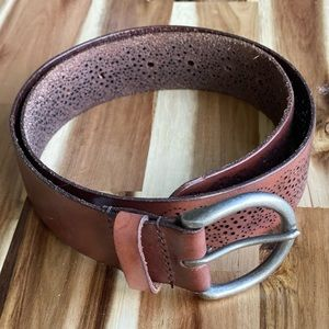 """AEO Brown Leather Belt 1.5"""" Thickness XS"""